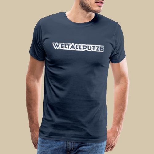 weltallputze grunge 01 weiss - Männer Premium T-Shirt