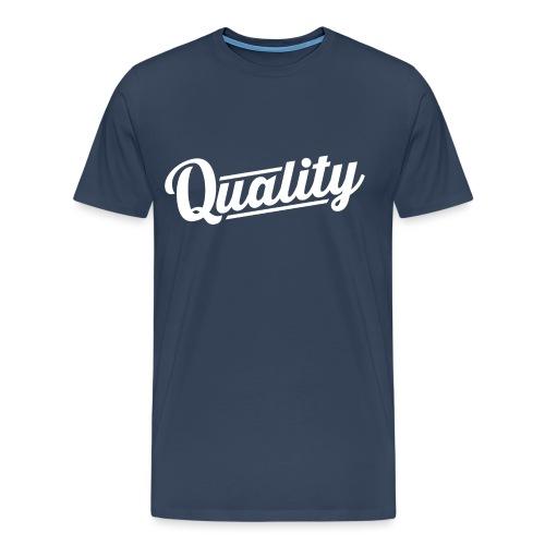 Slanted Quality Design png - Men's Premium T-Shirt