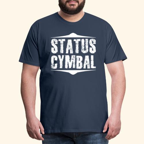 Status Cymbal Drums - Männer Premium T-Shirt