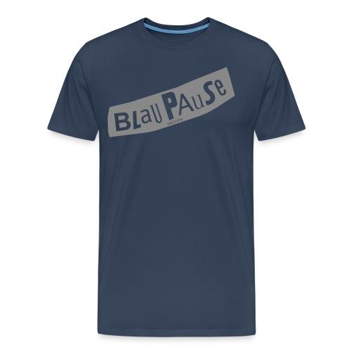 blaupause logo2 silver - Männer Premium T-Shirt