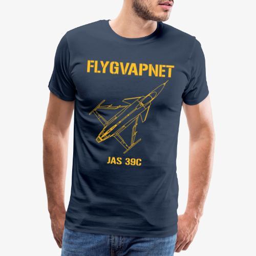 Flygvapnet JAS 39C - Premium-T-shirt herr