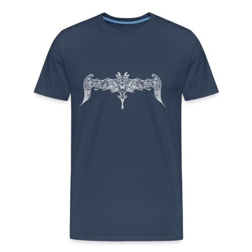 Pipistrello gotico stilizzato - Maglietta Premium da uomo