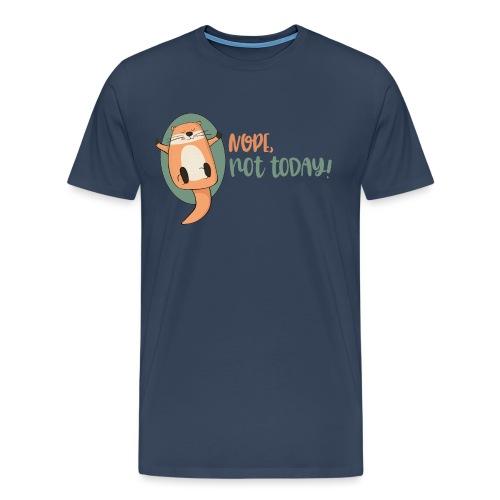 Nope, not today / Nicht mehr heute - Otter schläft - Männer Premium T-Shirt