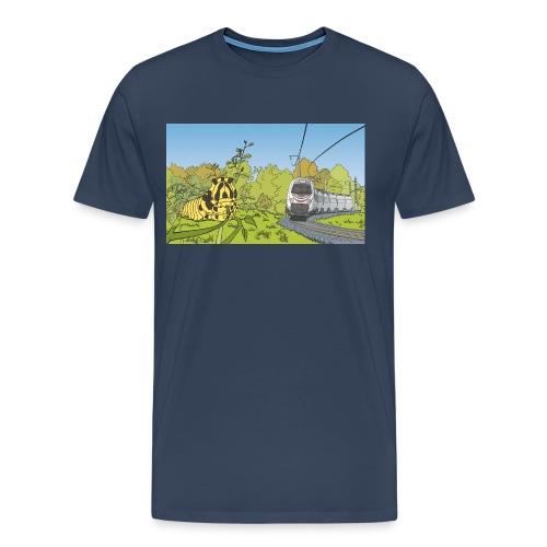 Raupe und Zug - Männer Premium T-Shirt