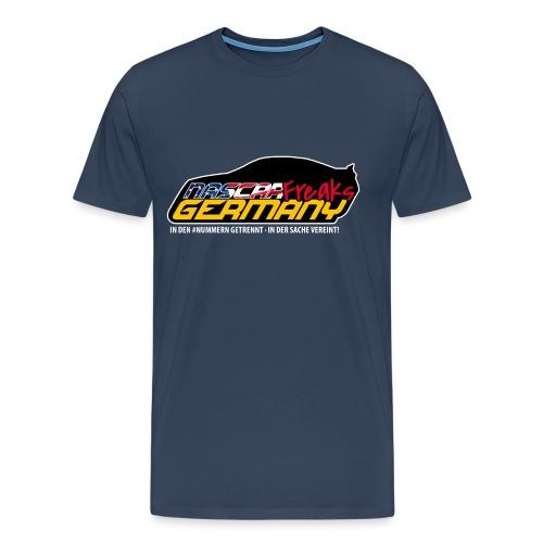 NASCAR WEISS KONTUR - Männer Premium T-Shirt