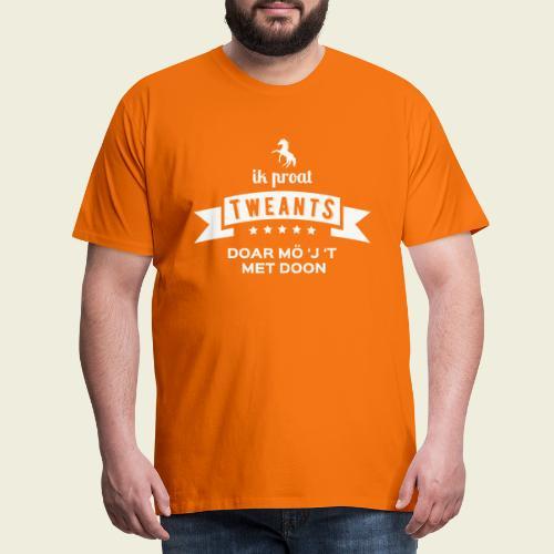 Ik proat Tweants...(lichte tekst) - Mannen Premium T-shirt