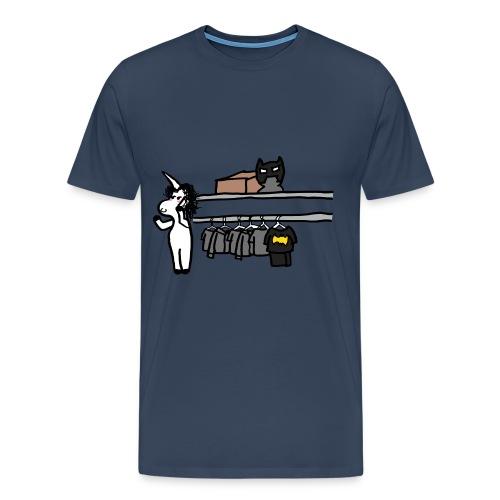 Unicorn talking on the phone - Men's Premium T-Shirt