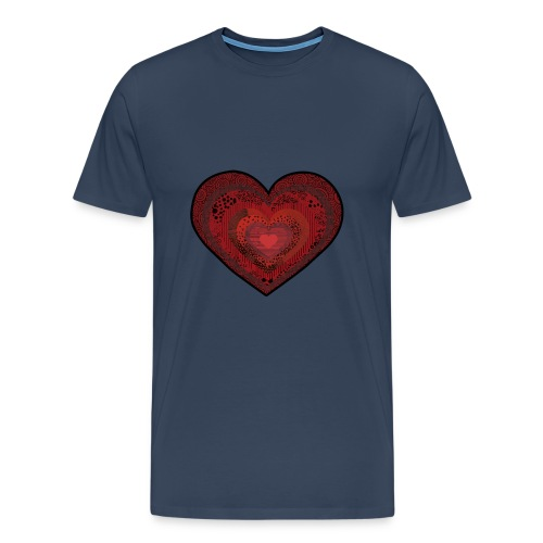 corazón de patrón - Men's Premium T-Shirt