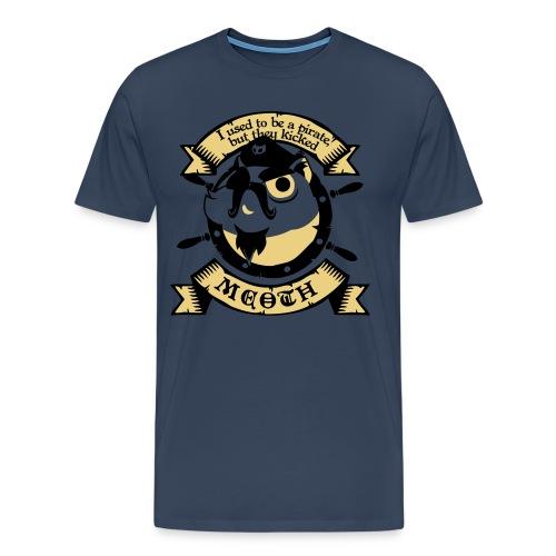 Katze Pirat Spruch - Männer Premium T-Shirt