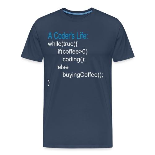 Programmierer Nerd Kaffee Programmieren Spruch - Männer Premium T-Shirt