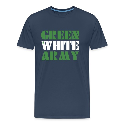 GREEN & WHITE ARMY - Men's Premium T-Shirt