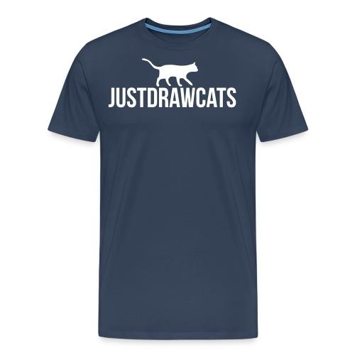 JustDrawCats Logo - Mannen Premium T-shirt