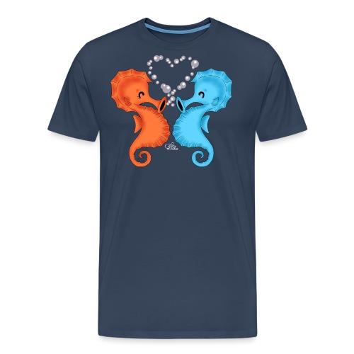 Seepferdchenliebe - Männer Premium T-Shirt