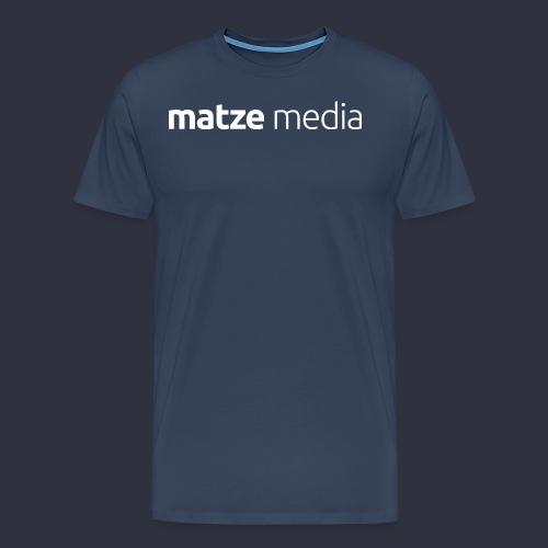 matze media White - Männer Premium T-Shirt