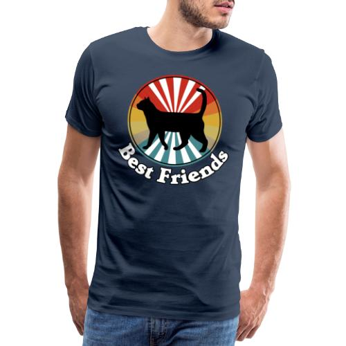 Best Friends - Ich liebe Katzen - Männer Premium T-Shirt