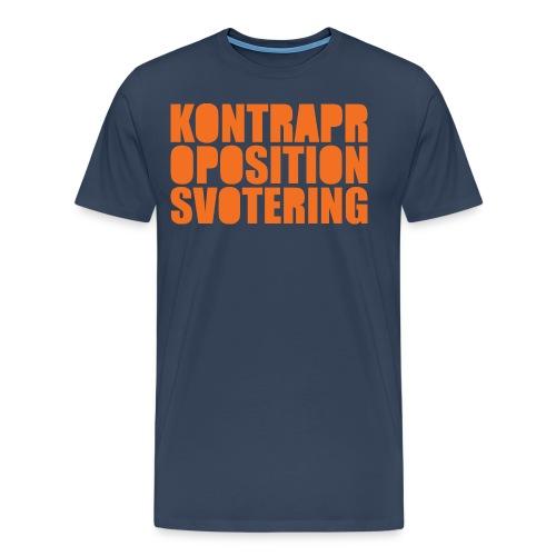 Kontrapropositionsvotering ORANGE - Premium-T-shirt herr