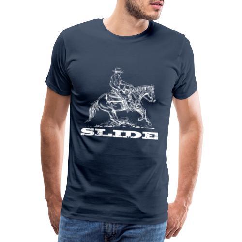 Sliding Stop Westernreiter Reining - Männer Premium T-Shirt