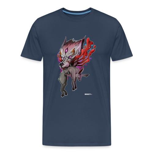 Wolf Japan Dämon Mythos Artwork Asien Mr. DiSzy - Männer Premium T-Shirt