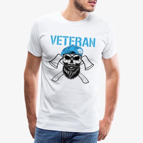 FN-veteran - Korslagda yxor - Premium-T-shirt herr