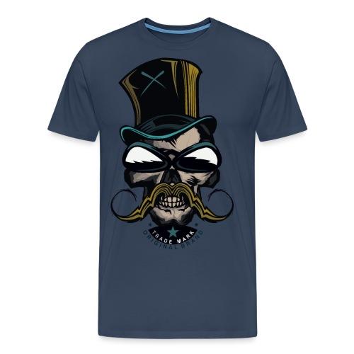 tete de mort hipster crane logo skull moustachu m - T-shirt Premium Homme