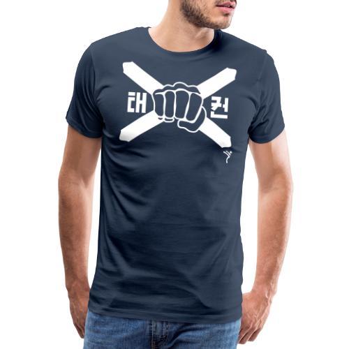 Scotland Taekwondo ITF fist and flag motif - Men's Premium T-Shirt