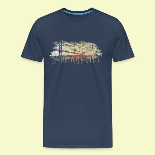 | Almada Brücke Palmen | - Männer Premium T-Shirt