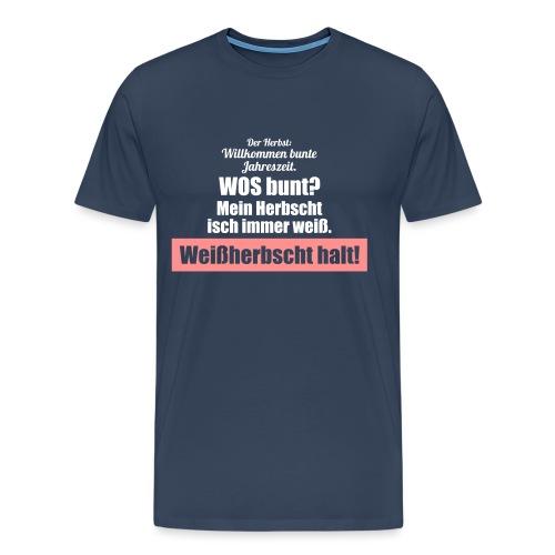 Der weiße pfälzer Herbst - Männer Premium T-Shirt