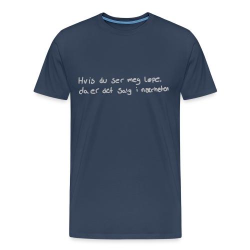 Salg løpe - Premium T-skjorte for menn