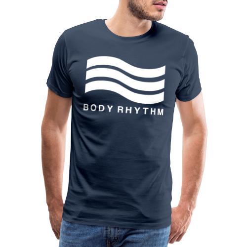 Body Rhythm Official Logo White - Men's Premium T-Shirt