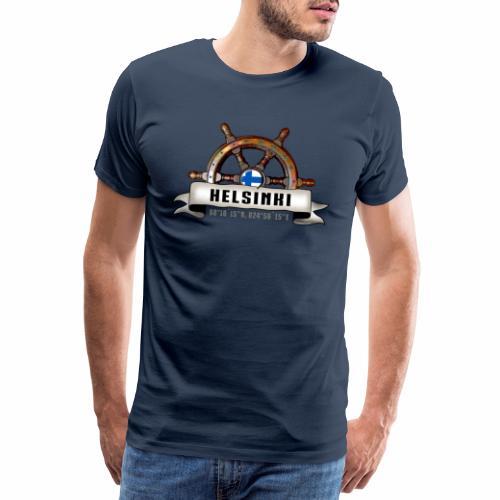 Helsinki Ruori - Merelliset tekstiilit ja lahjat - Miesten premium t-paita