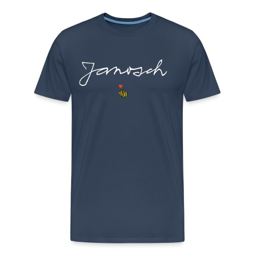 Janosch Schriftzug mit Tigerente - Männer Premium T-Shirt