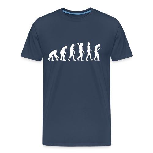 Entwicklung des Smartphone Zombie / Smombie - Men's Premium T-Shirt