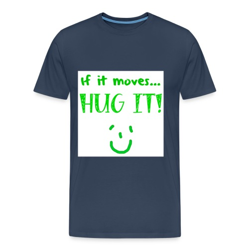 hugit green png - Men's Premium T-Shirt
