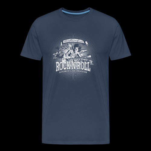 Rock 'n' Roll - Sounds Like Heaven (valkoinen) - Miesten premium t-paita