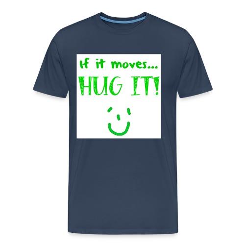 hugit green png - Men's Premium T-Shirt