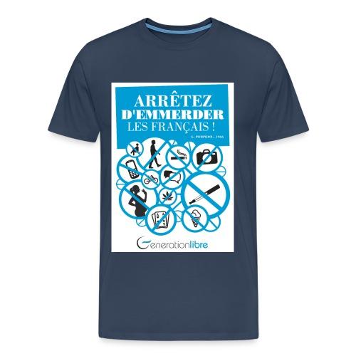 Pompidou - Arrêtez - T-shirt Premium Homme