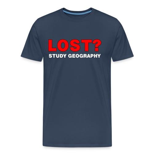 Lost? White Text - Men's Premium T-Shirt