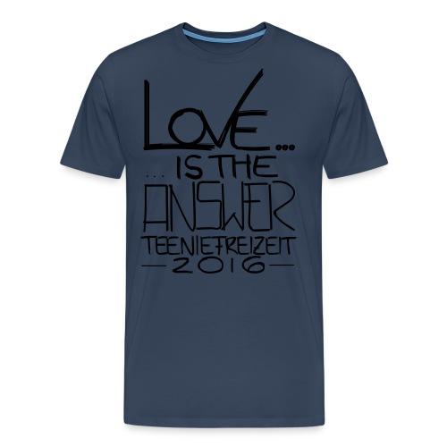 Frauen T-Shirt mit gerollten Ärmeln - Männer Premium T-Shirt