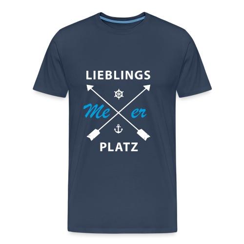 Lieblingsplatz Meer - Männer Premium T-Shirt