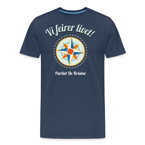 Vi feirer livet! På marine - Premium T-skjorte for menn