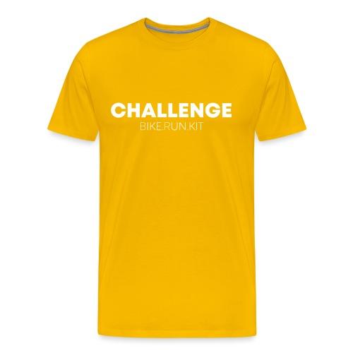 CHALLENGE LOGO WHITE - Men's Premium T-Shirt