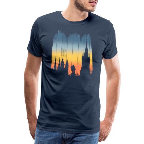 Halle Saale Silhouette Geschenkidee - Männer Premium T-Shirt