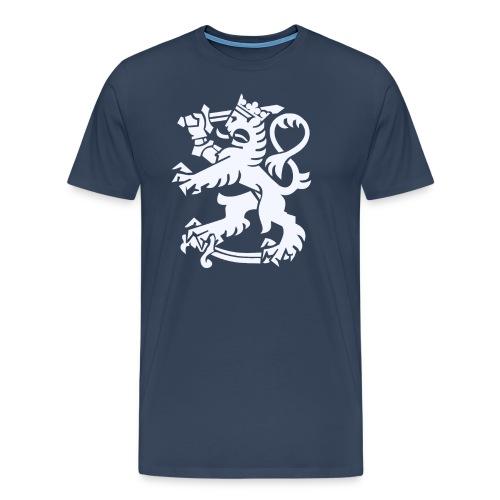 Valkoinen leijona - Miesten premium t-paita