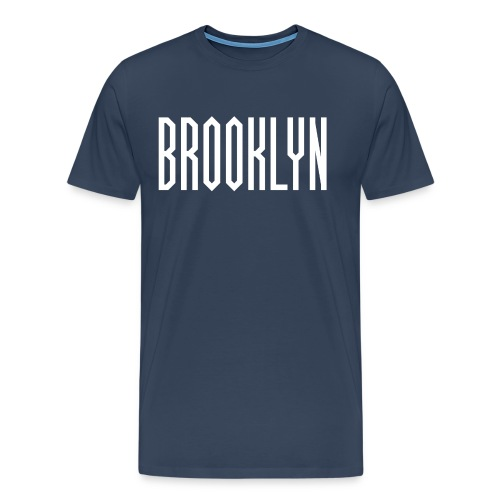 BROOKLYN Word White - T-shirt Premium Homme