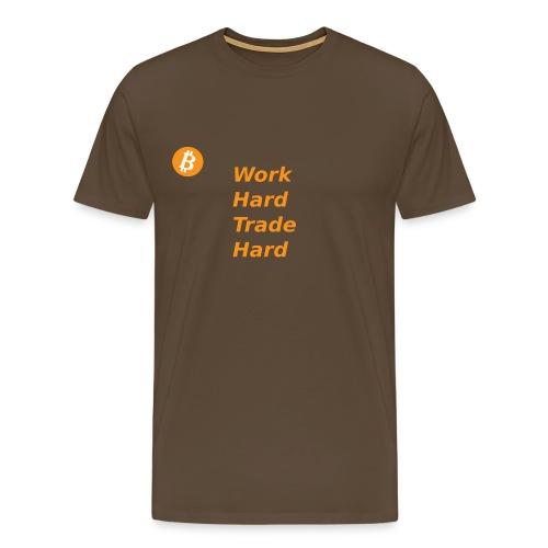 Trade Hard Bitcoin - Mannen Premium T-shirt