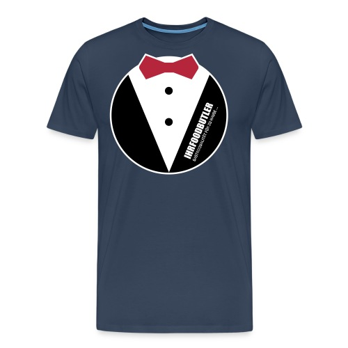 T-Shirt mit Fliege EPS - Männer Premium T-Shirt