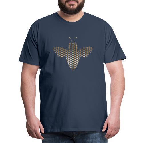 Een bij van een bijen patroon - Mannen Premium T-shirt