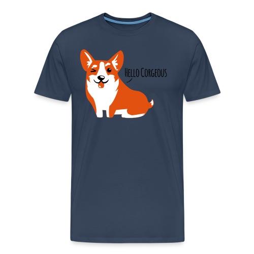Corgi Love - Hell - Männer Premium T-Shirt