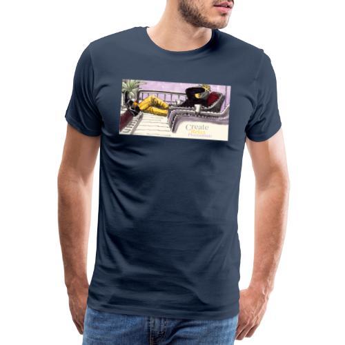 Work Relax Coffee Shop_St - Men's Premium T-Shirt