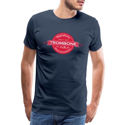 Trombone badge sw - Männer Premium T-Shirt
